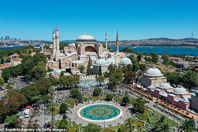 The Hagia Sophia, a World Heritage site, was converted into a place of Muslim worship earlier this month to the outcry of many in the Christian world