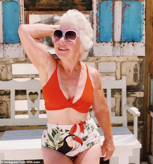 Fitness model Joan MacDonald (pictured), 74, from Cobourg, Canada, has become an Instagram sensation - and teaches workouts to over 800,000 followers