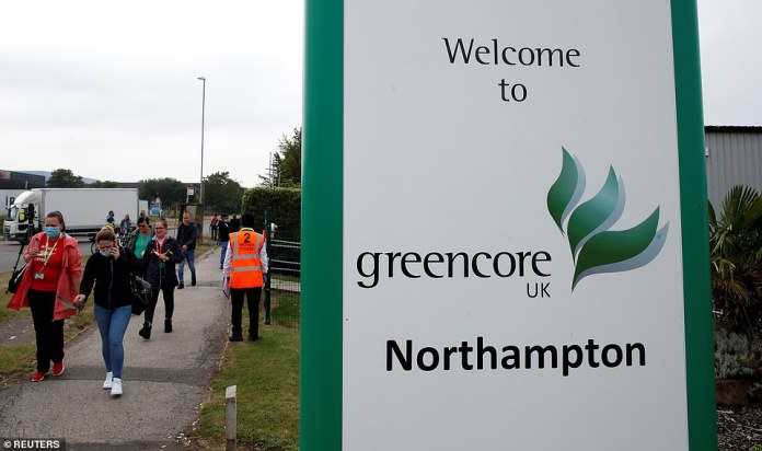 And a Northampton sandwich factory that supplies M&S - where almost 300 workers have tested positive for the coronavirus - was also shut down today. All employees and their households must isolate for two-weeks, or face being fined