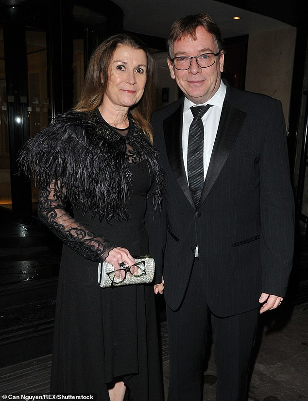 Split: Actor Adam Woodyatt, 52, has separated from his wife Beverley Sharp after 22 years of marriage (pictured together in 2017)