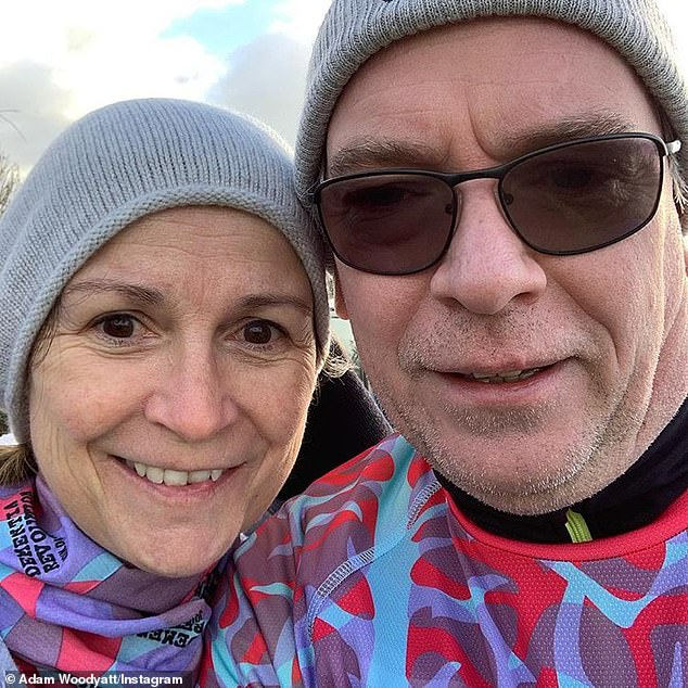 Over: Adam and Beverley tied the knot in 1998 (pictured together in January 2019)