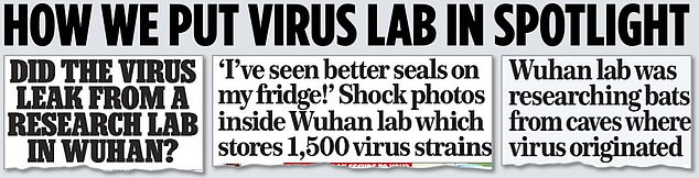 Leading the way: some of the Mail on Sunday stories this year about the lab in the city where the outbreak began