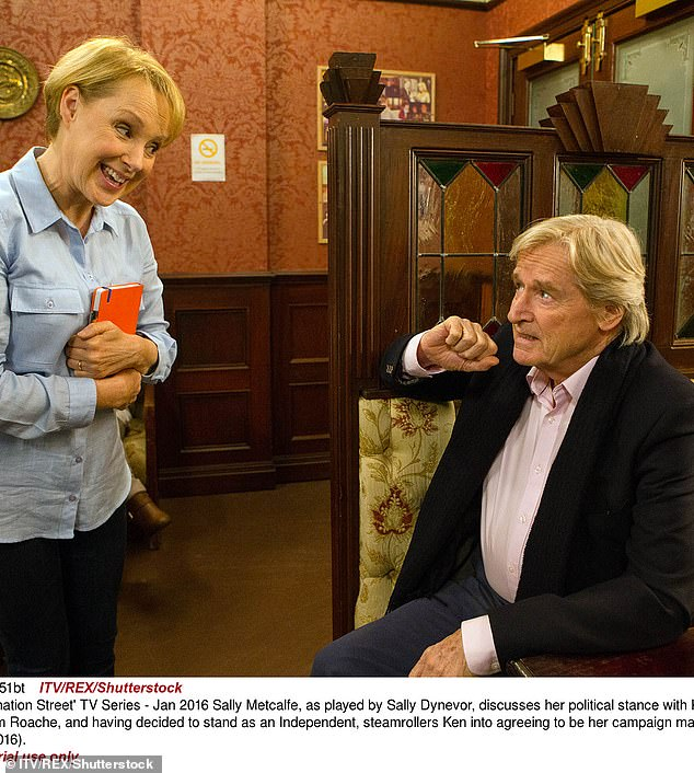 Icons: Sally has said she hopes to give the soap's legends like Bill Roache, 88 ¿ who plays Ken Barlow ¿ (pictured) a run for their money by staying on the show as long as she can