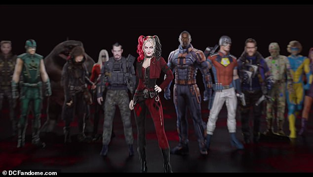 First look! The cast of the upcoming superhero film The Suicide Squad was unveiledduring DC's virtual FanDome Panel on Saturday in a roll call video