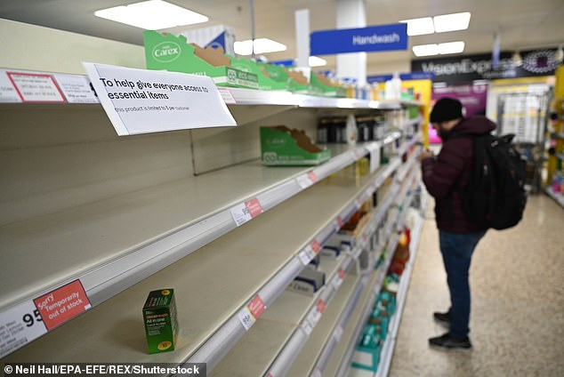 Revealed in leaked document, Whitehall predicts potential for public disorder caused by food shortages and price hikes