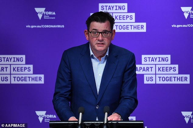 Prime Minister Daniel Andrews said bad weather over the weekend was an 'absolute blessing' and hoped it would mean more people stayed at home