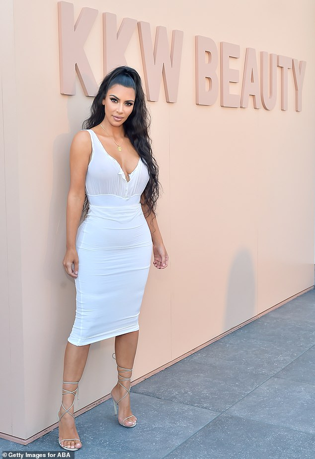 New business: Kim Kardashian, 39, plans to start a skincare company after trademarking KKW Skin, according to TMZ; pictured in 2018