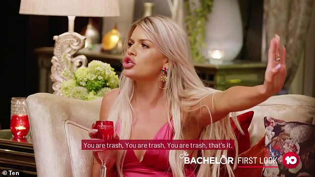 Oops:Intruder bride Kaitlyn Hoppe, 26, (pictured) was featured, and named, in the extended first look trailer for The Bachelor three weeks before her official cast announcement