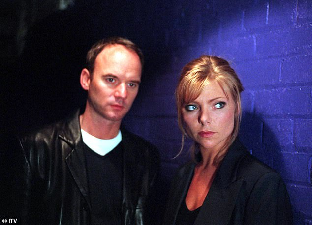 Early beginnings:The TV star met the Emmerdale actor, 59, on the set of Liverpool 1 back in 1998 (pictured in 1998)
