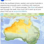 Parts of Australia are in for very warm weather at the end of winter