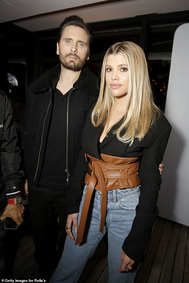 Moving on: Scott recently split from his girlfriend Sofia Richie, 22, recently 'for good' after three years of dating, and reports have revealed they 'were no longer talking' '(photo from February 2020)
