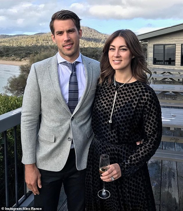 Splitsville: The Richmond premiership favourite shocked the footy world in December when he quit the game, only to announce his separation from wife Georgia (right) eight days later. Pictured together in 2017