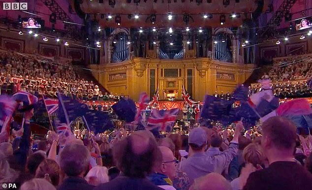 The Last Night of the Proms 2019 was hijacked by people waving EU flags amid the Brexit row (pictured)