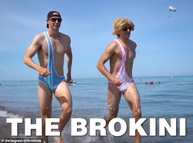 Summer look:Two 'bros' from Toronto have launched what they hope will be the next hottest trend in swimwear for men: Brokinis