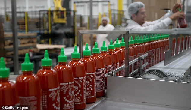 Around 3,000 bottles of Huy Fong's Sriracha chilli sauce are produced an hour and free tours of the California plant are available