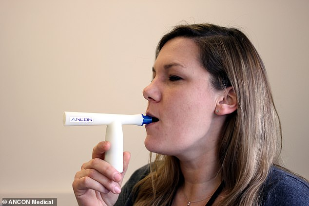 The test will not require any swabs or blood samples to be given but only for the patient to breathe into a tube for one minute so a sample of their breath can be collected for analysis