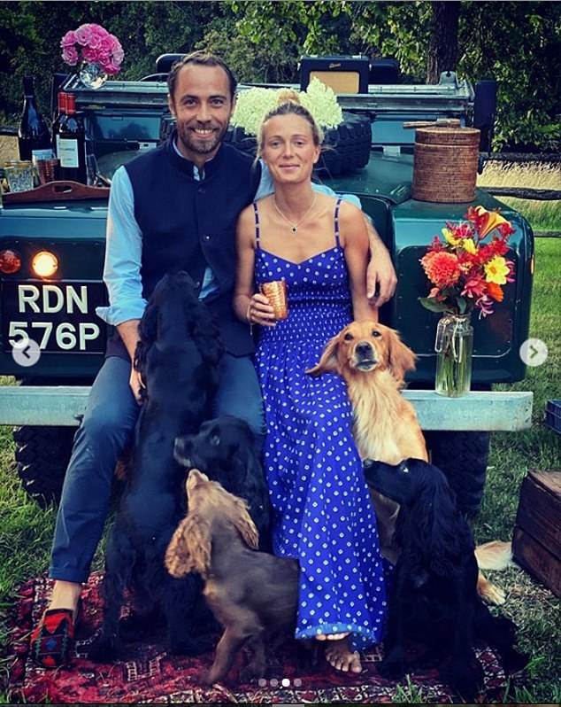 It comes after James surprised Alizée (pictured) with a romantic date night - complete with a countryside picnic and their adorable dogs