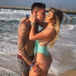 Chloe Ferry sets pulses racing as she poses in a white halterneck swimsuit during spa day