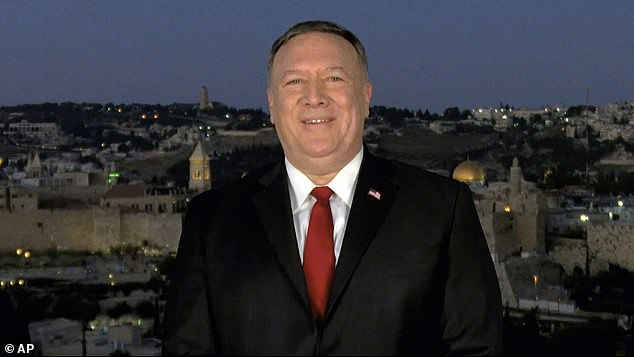 'He made it very clear that he was talking in his personal capacity he used no federal assets to do that,' Meadows said of Secretary of State Mike Pompeo's convention speech from Jerusalem