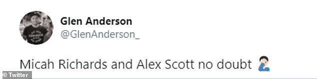 Some of the comments on social media were less supportive of Micah Richards and Alex Scott as new football pundits on Saturday