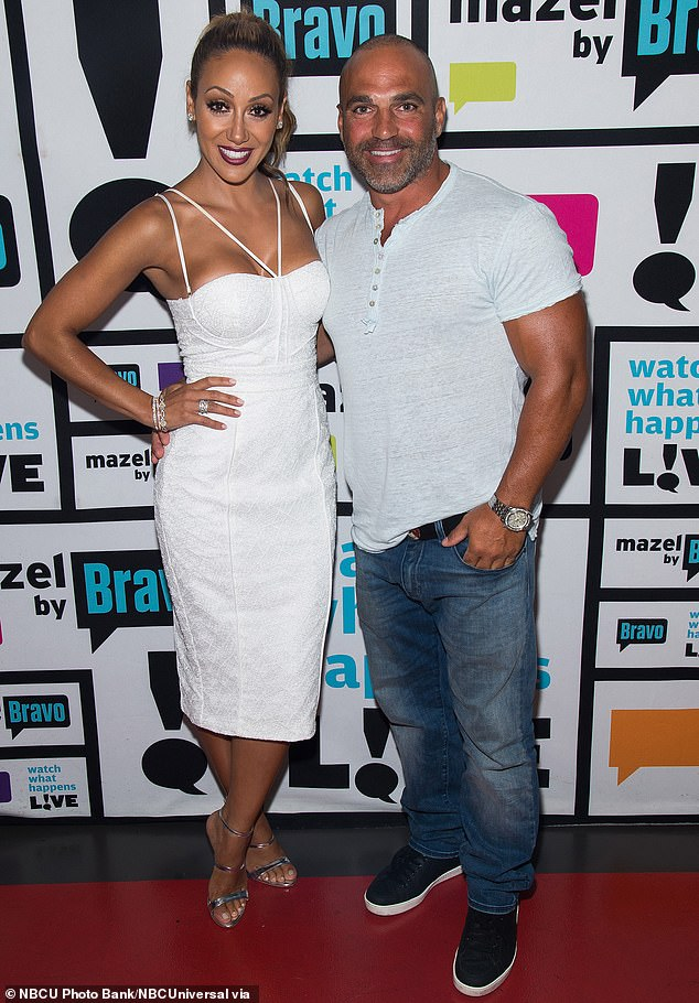 Hot couple:The pair are related to one another by way of the dashing businessman Joe Gorga (right) who is Teresa's brother and Melissa's husband