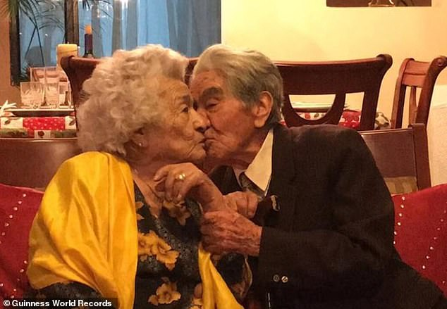 Waldramina Quintero (left) and Julio César Mora (right) have been recognized by Guinness World Records book as the oldest married couple in the world, with a combined age of 214 years and 358 days