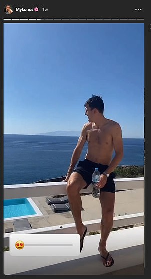Before the incident he had been enjoying a pleasant get-away on the idyllic Greek island