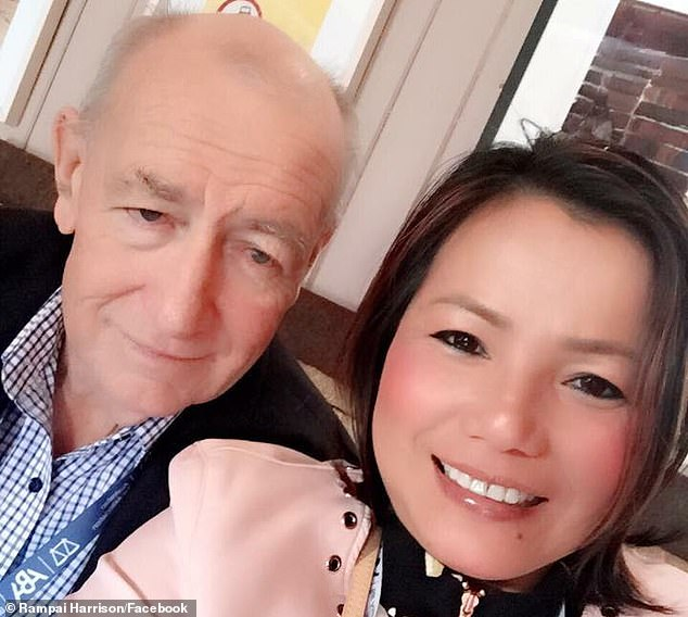 Though Justice Glenn Martin decided last Tuesday Ms Ryan was not considered to be a 'spouse' and that the bulk of the estate would go to Mr Harrison's (left) former carer and housekeeper Rampai Harrison (right) - whom he married in 2018