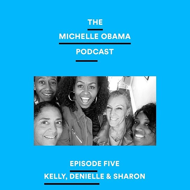 New ep: Michelle Obama spoke with with her friends Kelly Dibble, Denielle Pemberton-Heard, and Dr. Sharon Malone in the new episode her podcast