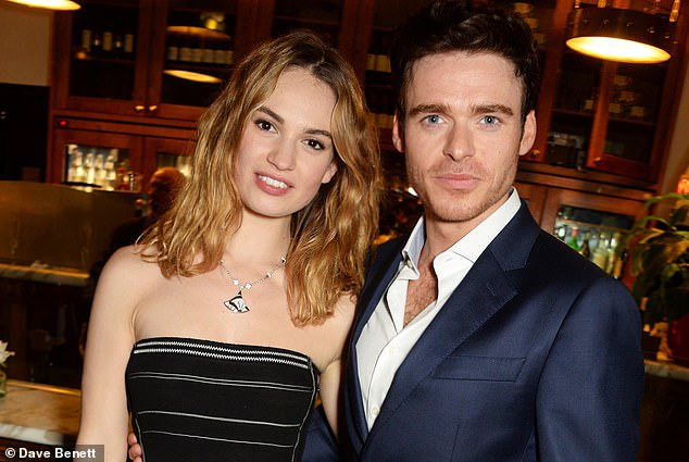 Lily James and Richard Madden reunite for group holiday ...