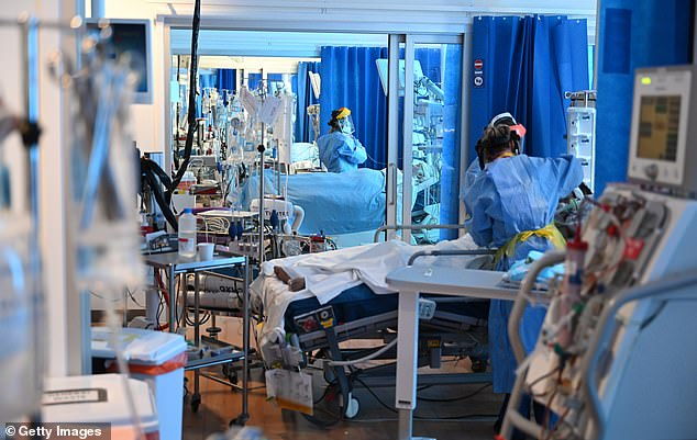 The intensive care unit at Royal Papworth Hospital in Cambridge on May 5.  Sir David is also professor of physical chemistry at the University of Cambridge