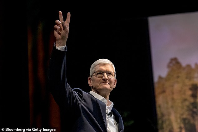 Epic sued Apple last month, claiming they had an unlawful monopoly over the market. However, the tech giant have stood strong, removed all Epic Games from their App Store and have filed a counter-suit against the Fortnite maker. Pictured: Apple CEO Tim Cook
