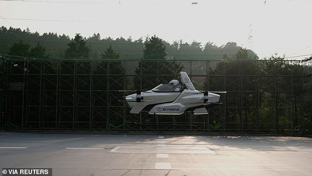 In a video, SkyDrive's Evtol car hovered in the air with a passenger inside for four minutes