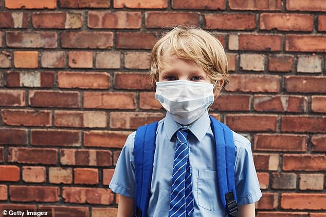 Children are 'more likely to be hit by a bus' than catch coronavirus at school. Classrooms are 'safe'. The chances of kids becoming seriously ill with Covid? 'Strikingly low' (stock)