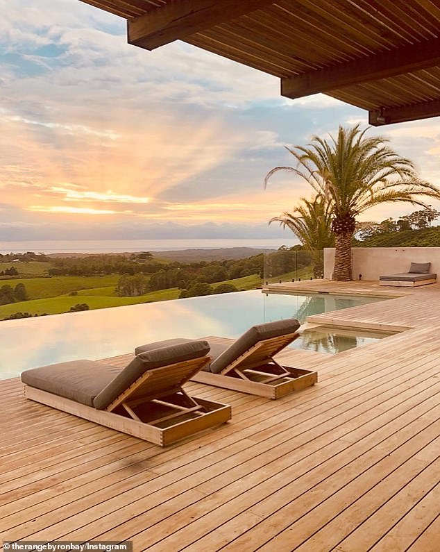 Luxurious: The eco-friendly, luxurious property is located on 120 acres in the Byron Bay hinterland and costs up to $ 50,000 per week