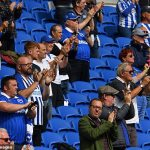Fans allowed into a stadium for the first time since March to watch Brighton take on Chelsea