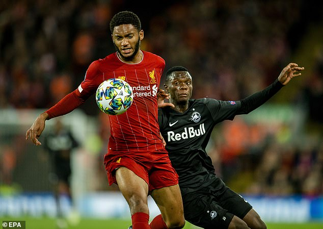 Daka played for Salzburg against Liverpool in last season's Champions League group stages