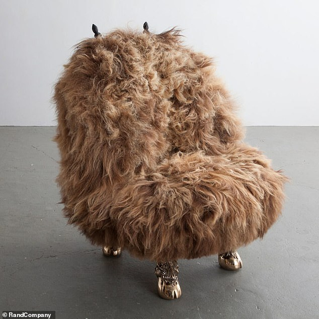 The 'Beast Chair' - was designed by the Haas Brothers, and is covered in Icelandic sheepskin, according to The New York Post