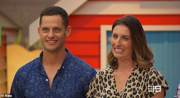 Tough appraisal: Luke and Jasmin (both pictured), who presented their 1910 guest bedroom, also received a less than stellar appraisal from Shaynna. They earned 20-and-a-half points, the lowest score of the night