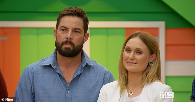 Blown away: For Daniel and Jade (both pictured), their 1930's guest bedroom was also praised by the judges