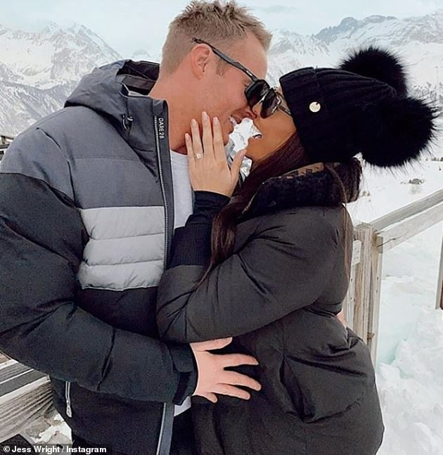 Would you marry me?  William proposed to Jess in the ski resort of Courchevel, France, in February