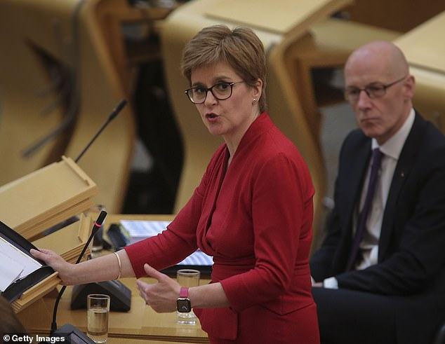 Prime Minister Nicola Sturgeon told the public not to be alarmed as the number of people hospitalized with Covid-19 increased by three to 258