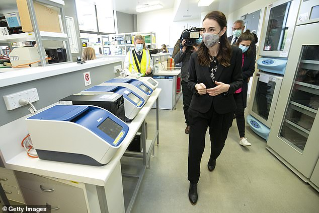 Ms Ardern visited a medical research clinic after allocating hundreds of millions of dollars in additional funding to the COVID-19 Response and Recovery Fund