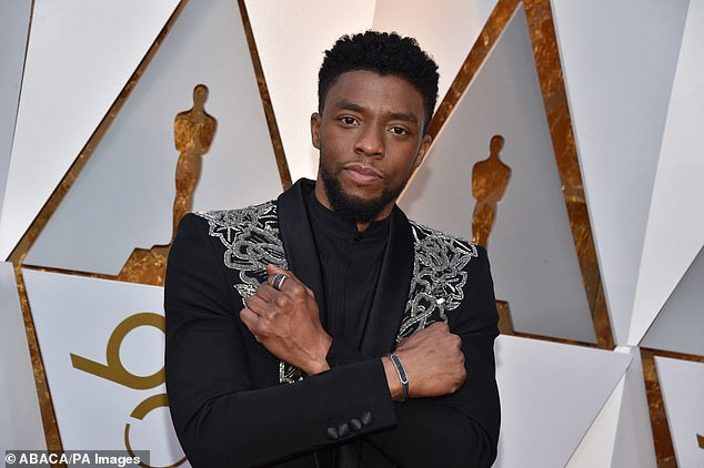 Massive hit: As of Sunday morning, Black Panther shot to the third slot on Amazon's best-selling movies list, and is in the top five most popular films on Apple and Amazon charts (seen in 2018)