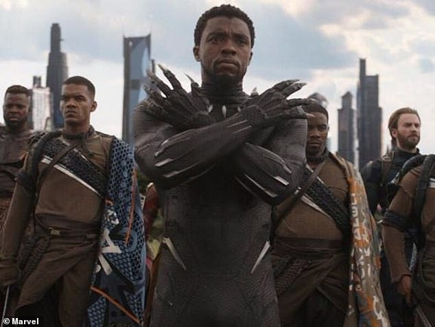 In memory: Renewed interest in 2018's Black Panther has surged after the shocking death of Chadwick Boseman on Friday, according to Deadline