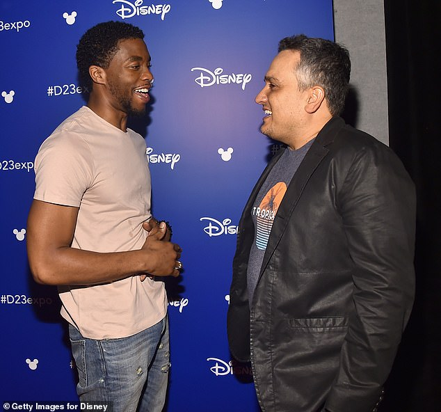 Weighing in: Also paying their respects to Boseman were his directors Joe and Anthony Russo, who cast him in Captain America: Civil War and directed him in Avengers: Infinity War and Endgame; Joe Russo shown in 2018