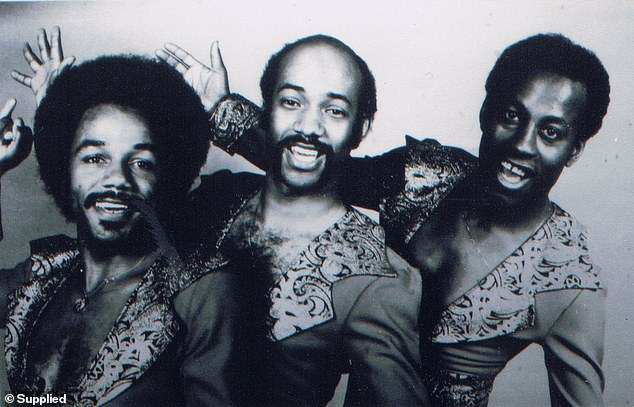 Len Coley (centre) and his band Delegation were making international R&B hits in the mid-1970s when he met a Sydney woman called Philippa who was visiting the United Kingdom. The pair fell in love but he sacrificed any future relationship while chasing more musical success