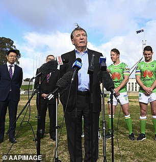 Dennis Richardson, the former boss of the Australian Security Intelligence Organisation spy agency, took leave without pay from his position as head of the Department of Foreign Affairs and Trade to broker a deal with Huawei while a board member of the NRL club