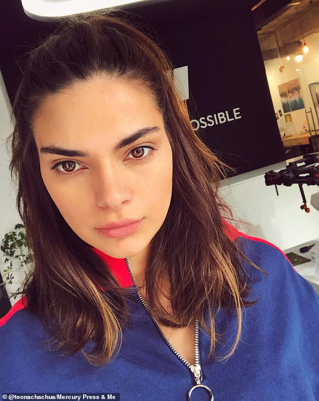 'Sometimes she posts pictures on her Instagram and I can understand why everyone says I look like Kendall,' admitted the mother-of-one (pictured)