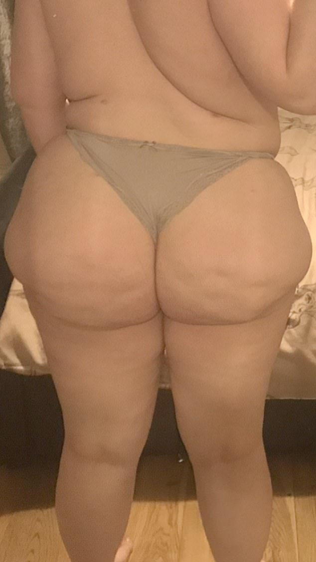 Shannon, a salon owner, claims the 'botched' surgery she got in Instanbul, Turkey, - after it was recommended by an online influencer - has left her with a 'lumpy' and 'uneven' bottom (pictured)